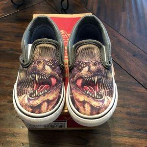 Toddler T-Rex slip on Vans size 6.5
